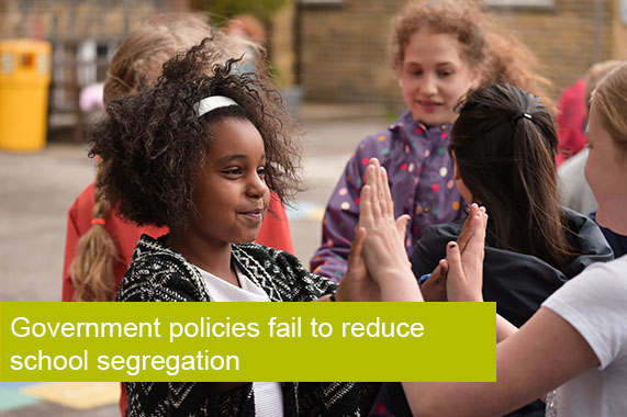 Government policies fail to reduce school segregation